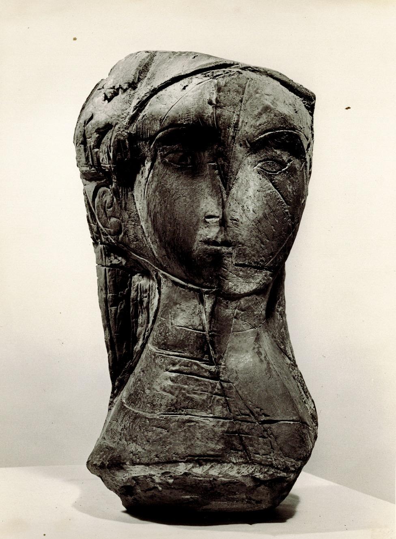 Testa femminile bronzo 1958 inedita