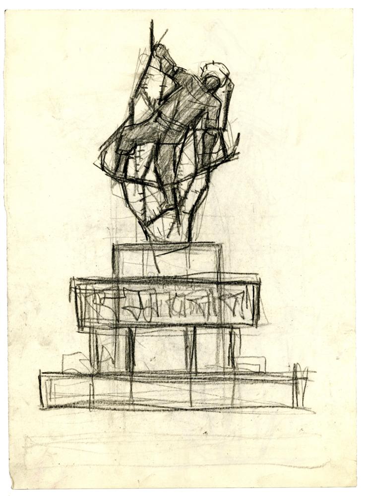 Schizzo per il monumento ai caduti a Rivarolo Canavese